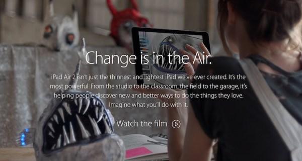 """Change"" nowa reklama iPada Air 2"