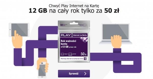 Nielimitowany Play Internet na Kartę