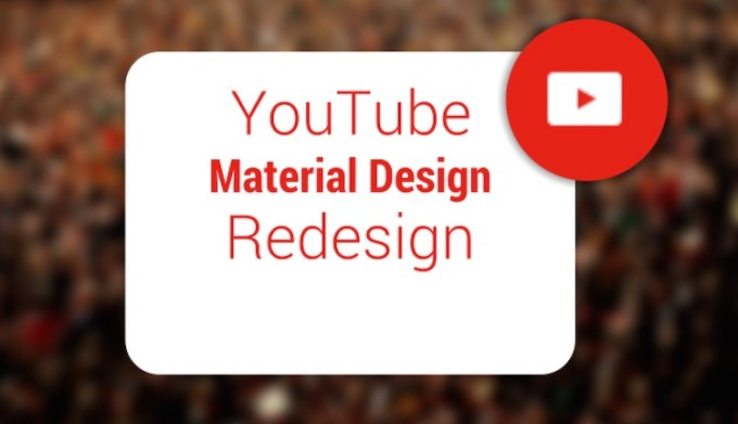YouTube na Androida w Material Design