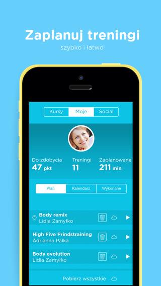Aplikacja mobilna do fitness - Fitnoteq