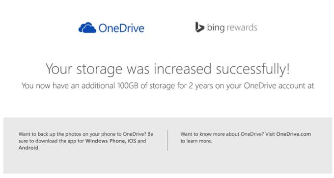 100 GB w usłudze OneDrive za darmo
