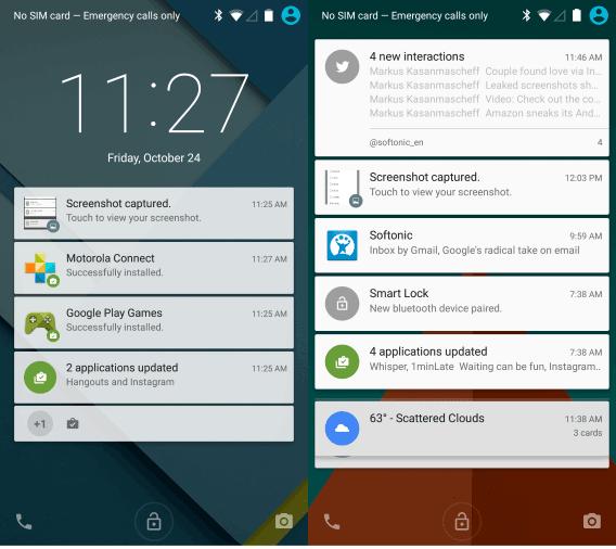 Centrum powiadomień pod Androidem 5. Lollipop