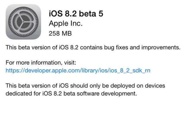iOS 8.2 beta 5