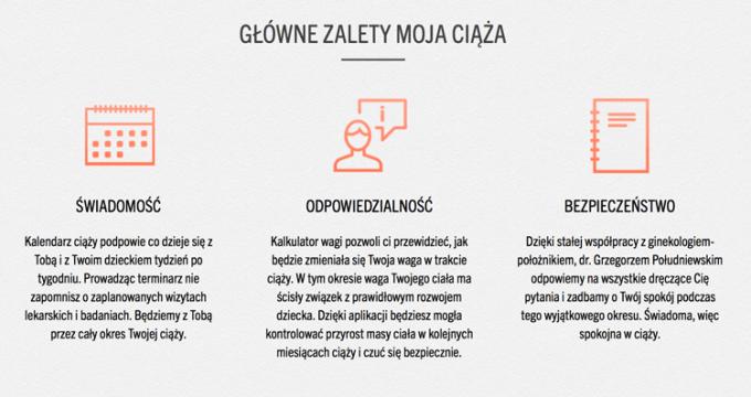 Moja Ciąża z eDziecko.pl - zalety