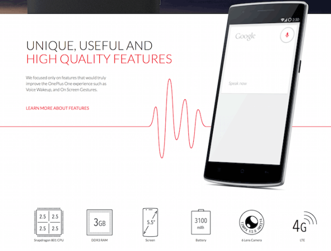 OnePlus One spec