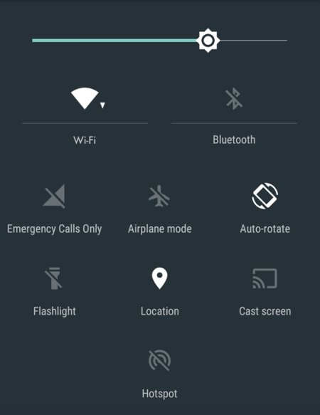 Panel zarządzania energią w Androidzie