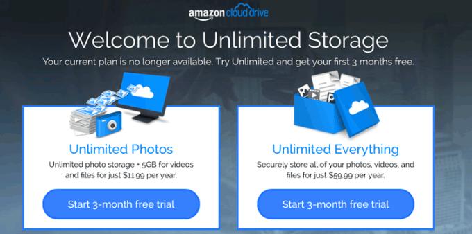 Amazon Cloud Drive - ceny