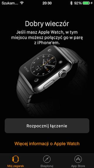 Aplikacja Apple Watch