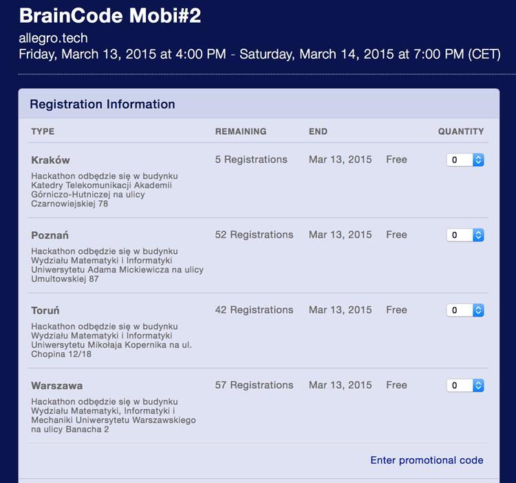 BrainCode Mobi rejestracja
