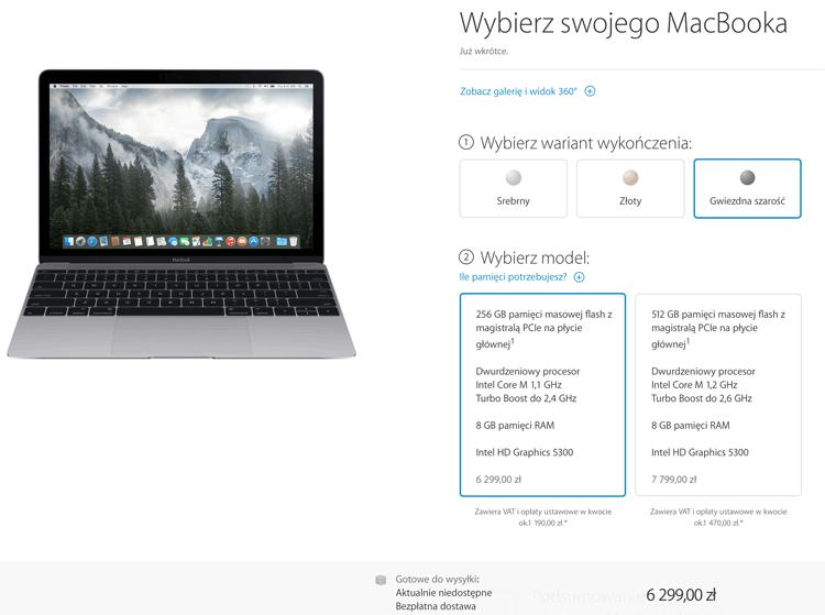 Cena nowego MacBooka