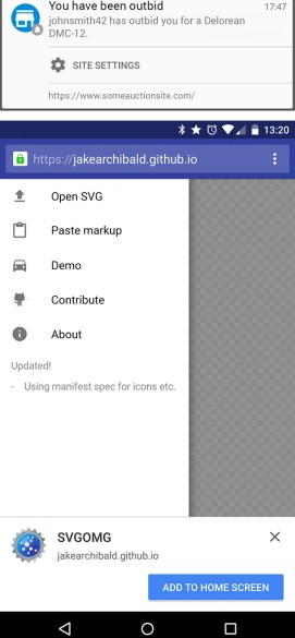 Chrome 42 beta powiadomienia push
