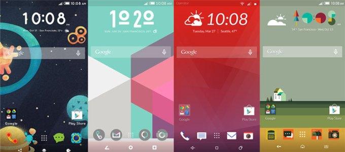 Przykłady motywów HTC Themes Maker