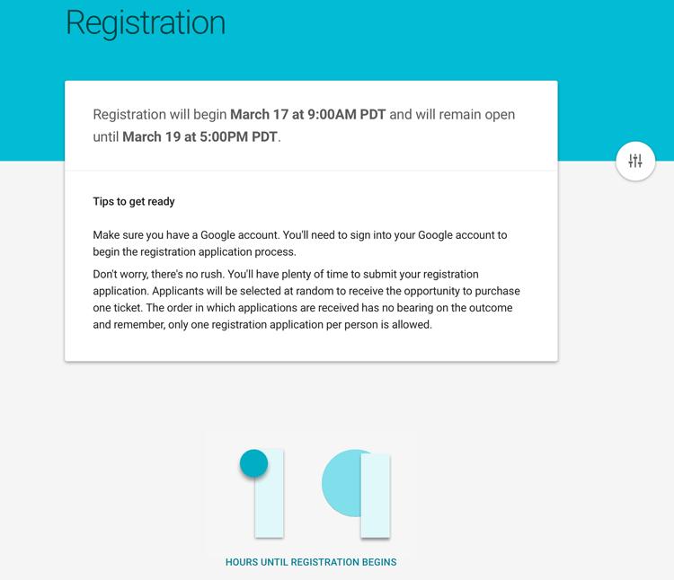 I/O 2015 rejestracja