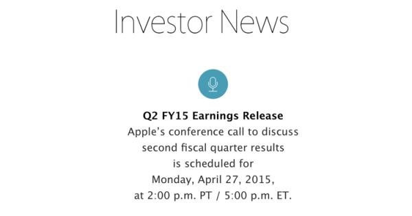 27 kwietnia Apple poda wyniki finansowe za 2Q