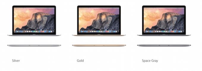 Kolory nowego MacBooka