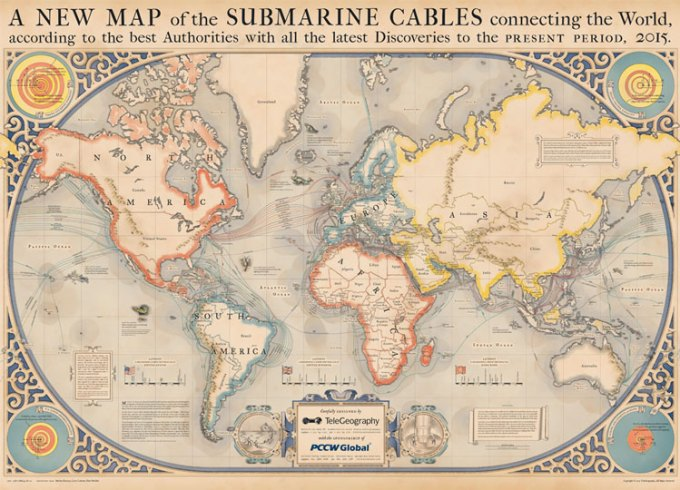 Podwodne kable internetowe (TeleGeography)