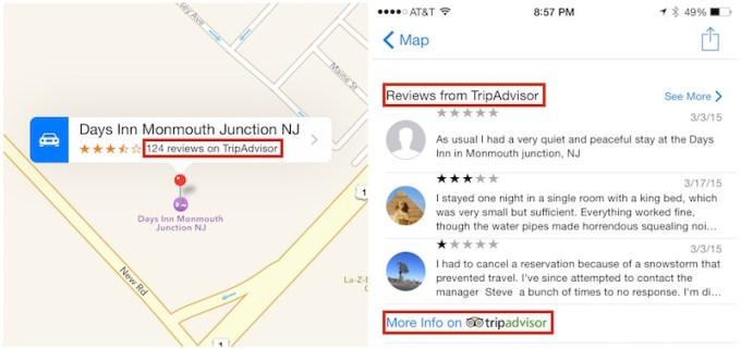 Mapy Apple - recenzje z TripAdvisor
