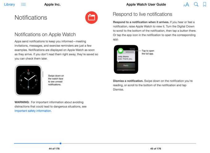 Apple Watch - User Guide wersja z iBook Store'a (Notifications)
