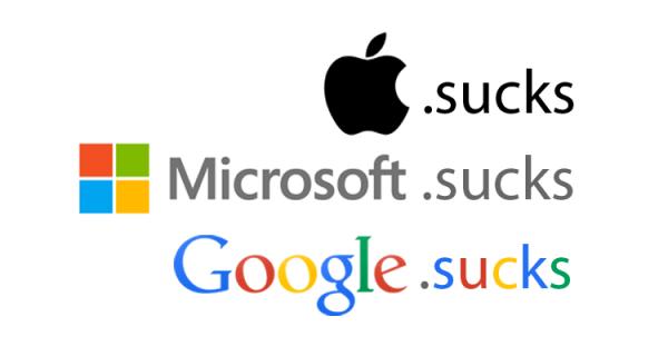 Domeny .sucks wykupywane przez gigantów
