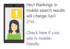 Nowy ranking wyszukiwania na smartfonach od 21 kwietnia 2015 r.