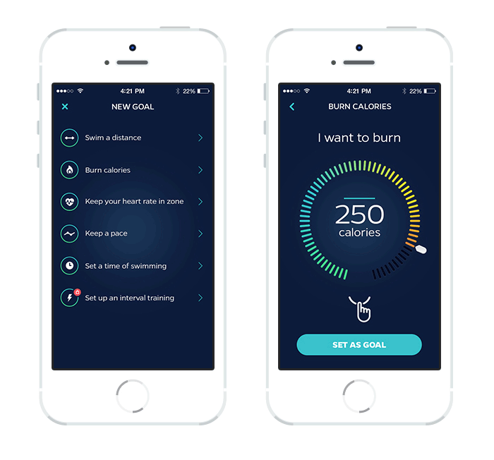 Swimmo smartwatch mobile app