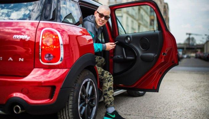 Uber w Krakowie - pierwszy przejazd Jana Fevre'a
