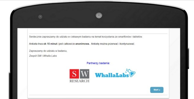 "Raport ""Android w Polsce 2015"" - ankieta screen"