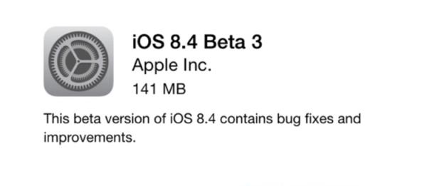 Apple udostępniło iOS 8.4 beta 3
