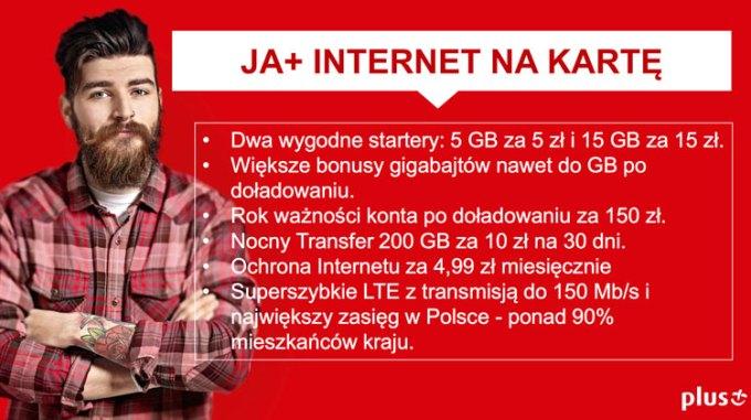 JA+ internet mobilny na kartę w sieci Plus GSM