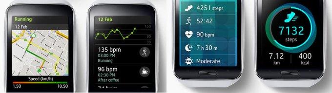Samsung Gear S funkcje Fitness