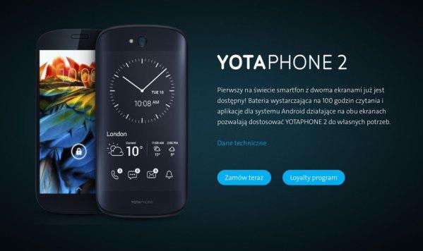 YotaPhone 2 – pierwszy smartfon z dwoma ekranami