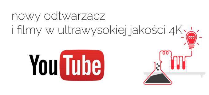 Nowy odtwarzacz YouTube i filmy w jakości 4K
