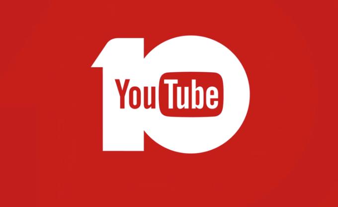 YouTube świętuje 10-lecie
