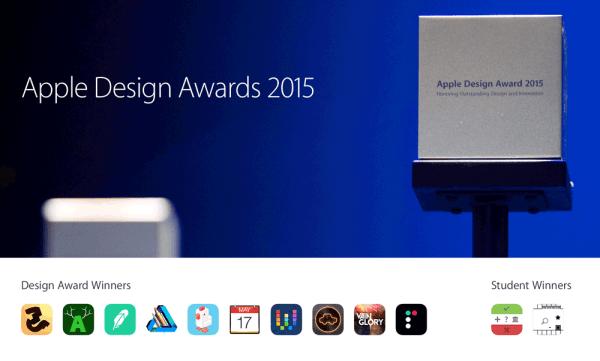 Najlepsze aplikacje mobilne Apple Design Awards 2015