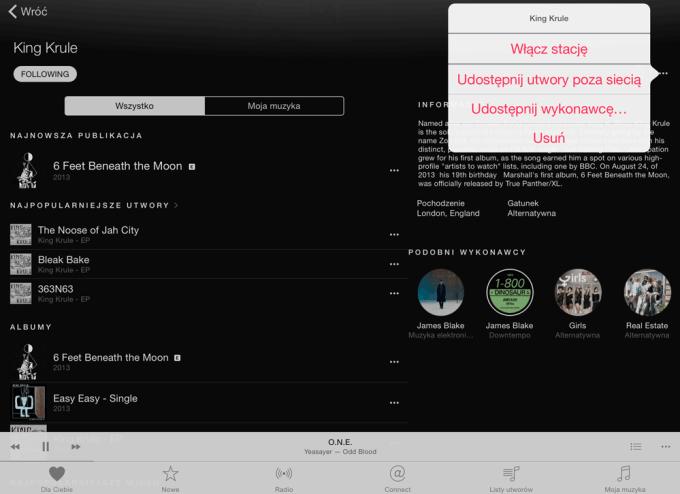 Zapisywanie albumu w Apple Music do trybu offline