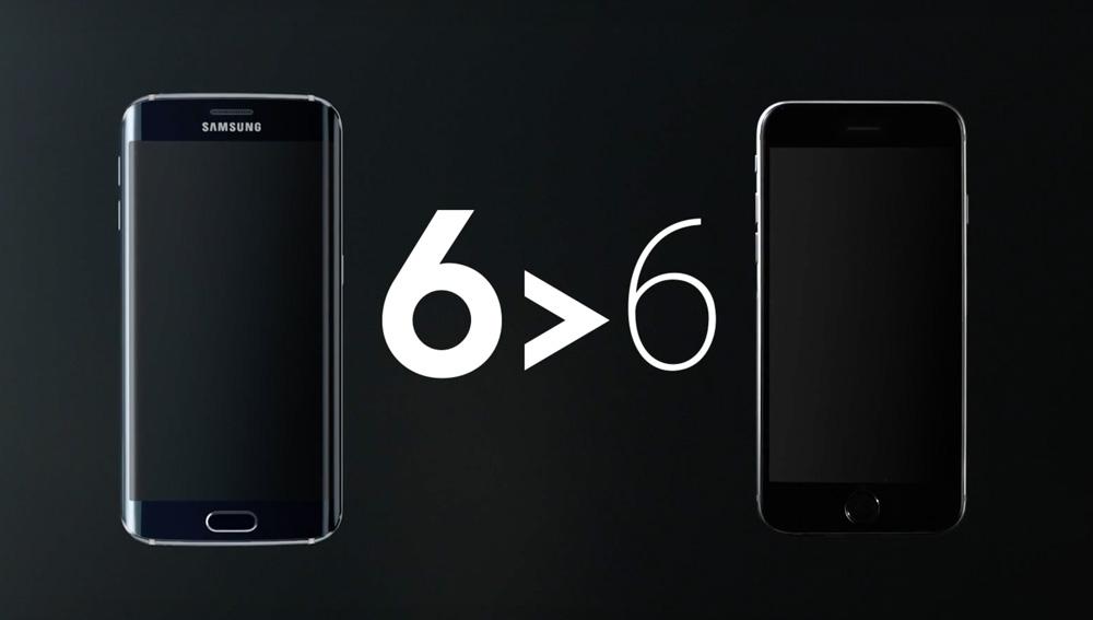 Samsung Galaxy S6 edge vs iPhone 6 Plus (kampania 6 > 6)