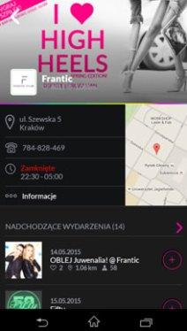 Aplikacja mobilna z wydarzeniami w Krakowie - where2B