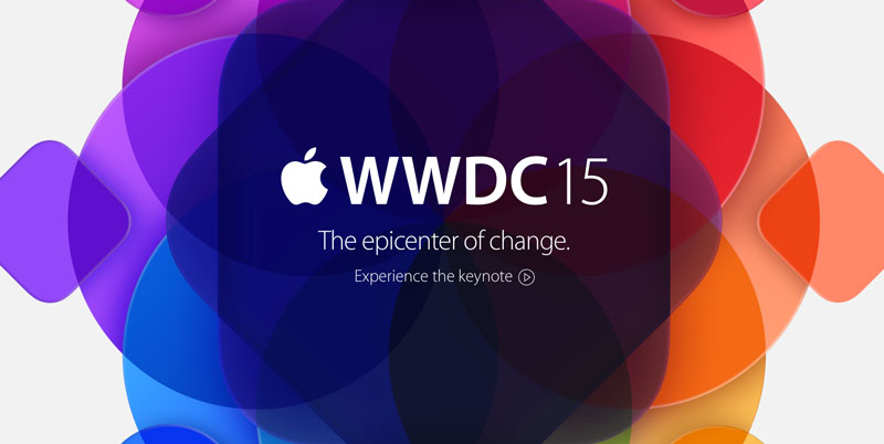 WWDC15 The epicenter of change - logo konferencji Apple'a