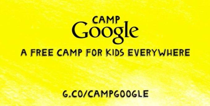 Camp Google - logo i zajawka z adresem URL strony