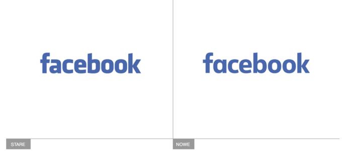 Nowe i stare logo Facebook - porównanie