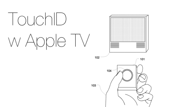 Patent TouchID do pilota Apple TV