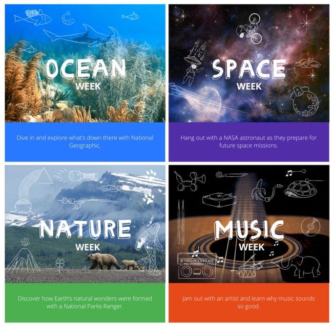 Tygodnie tematyczne Obozu Google'a - Camp Google Weeks
