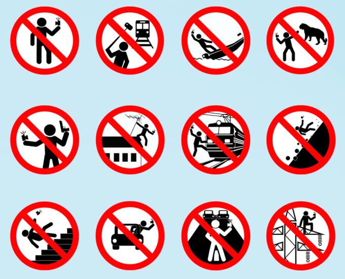 Znaki zakazu robienia selfie