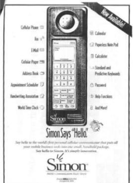 IBM Simon reklama prsowa