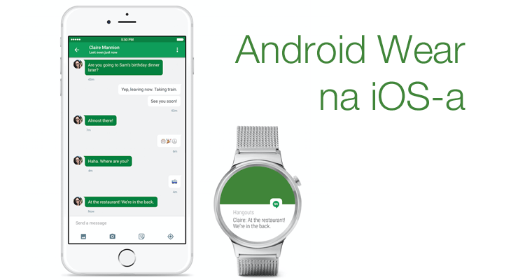 Android Wear na iOS-a (iPhone'a)