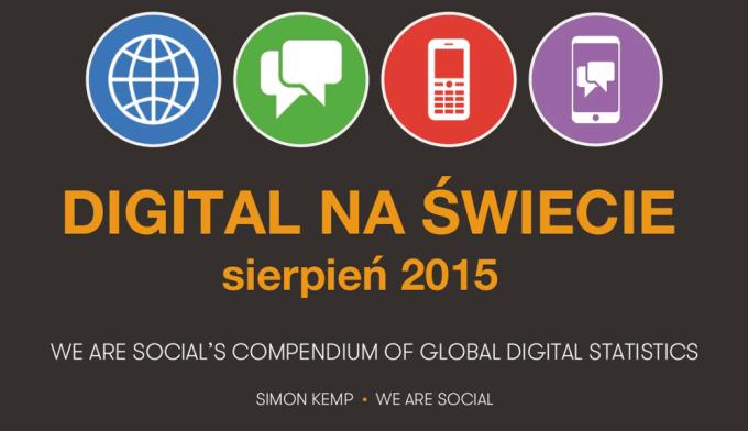 Digital na świecie (dane z sierpnia 2015 r.)