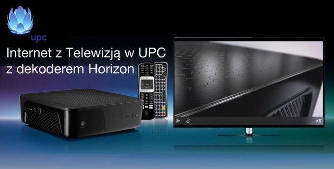 Internet z Telewizją w UPC z dekoderem Horizon