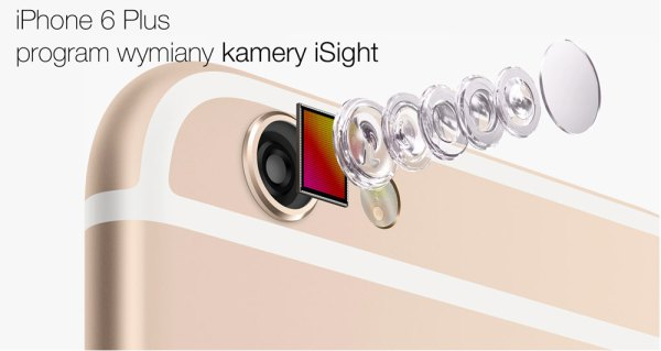 Program wymiany kamery iSight w iPhone'ie 6 Plus