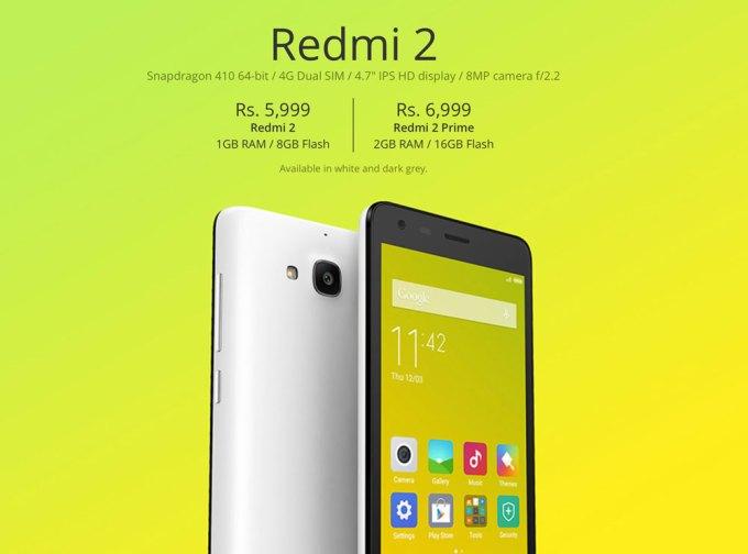 Redmi 2 i Redmi 2 Prime
