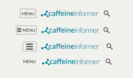 rodzaje menu mobilnego badanego w testach AB